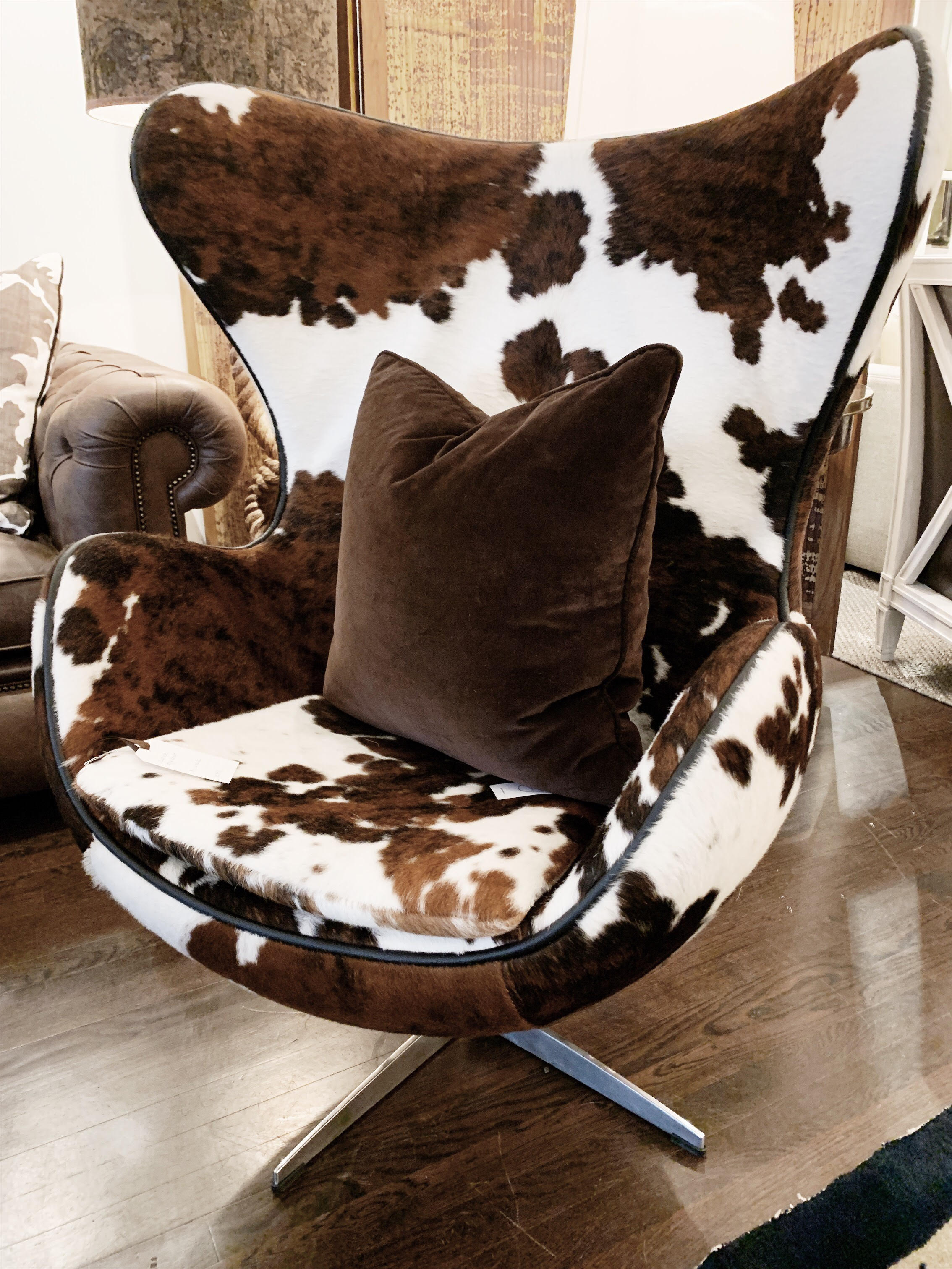 Peachy Cow Hide Chair Squirreltailoven Fun Painted Chair Ideas Images Squirreltailovenorg